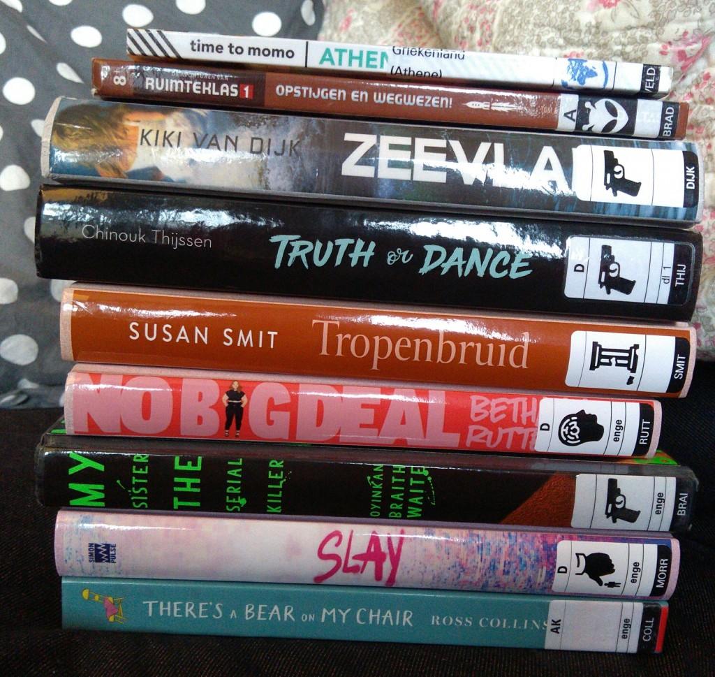Bibliotheek Zoetermeer, Library #2, Slay, No Big Deal, My Sister The Serial Killer, Truth or Dance, Books, Stack of Books