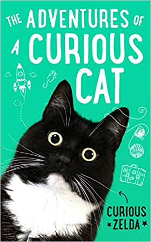 The Adventures of a Curious Cat, Curious Zelda, Cat, Cute, Black and White Cat, Green, Rocket, Yarn, Suitcase, Non-fiction, Humour, Matt Taghioff