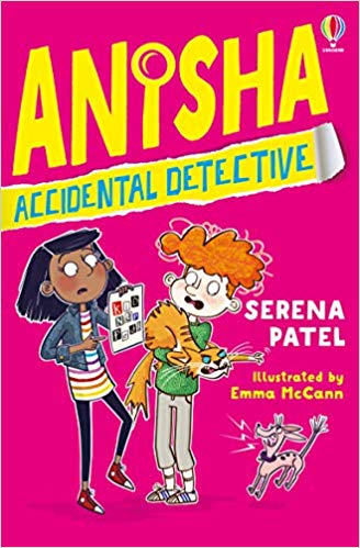 Anisha Accidental Detective, Serena Patel, Pink, Boy, Girl, Yellow Letters, Detective, Mystery, Children's Books