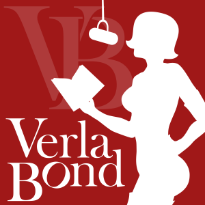 Verla Bond, Silhouette, Red, White, Microphone, Woman