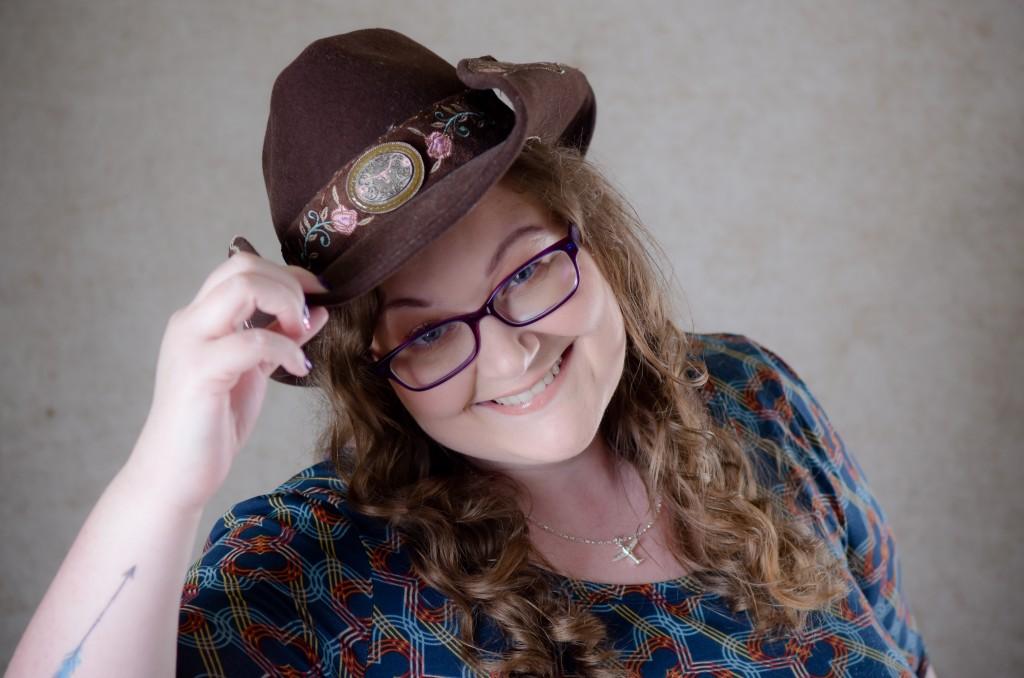 Lasairiona McMaster, cowboy hat, author, photograph