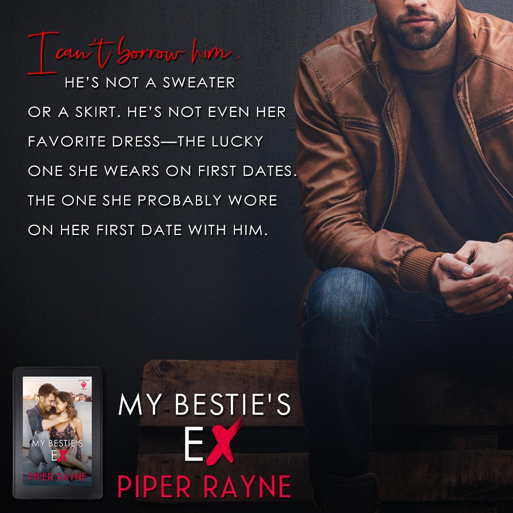My Bestie's Ex, Piper Rayne, Logo, Adult, Romance, Jeans, Man, Leather Jacket