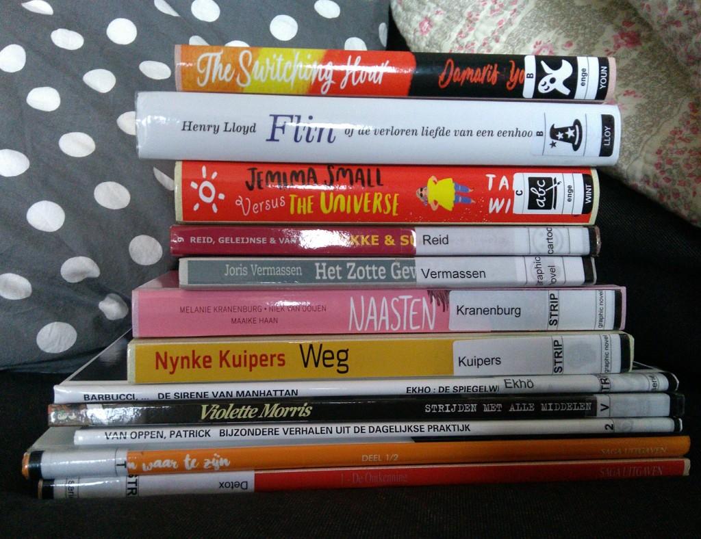 Library #3, Bibliotheek Den Haag, Stack of Books, comic, graphic novel, children's books, fokke & sukke, so many books