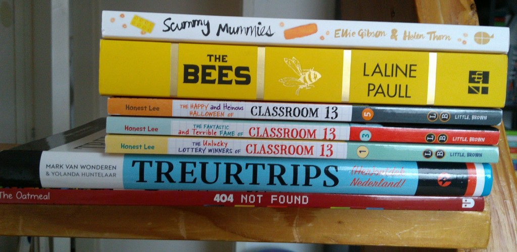 Book Haul February, Stack of Books, Bees, Classroom 13, Treurtrips