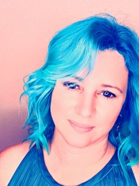 Blue Hair, Author, Photograph, Harlow Layne