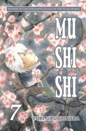 Mushishi, Volume 7, Sakura, Blossom, Paranormal, Slice of Life, Manga, Yuki Urushibara, Cover Love, Fantasy, Flowers, Tree, Man, White Hair