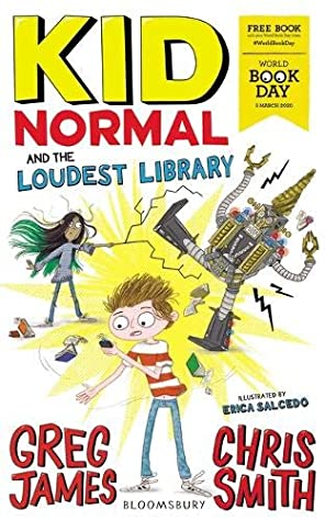 Kid Normal and the Loudest Library, Boy, Girl, Superpowers, Humour, Villains, Friendship, Illustrations, Erica Salcedo, Chris Smith, Greg James, World Book Day, World Book Day 2020