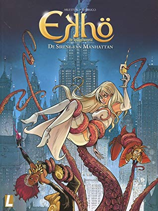 Christophe Arleston, Alessandro Barbucci, Comics, Ekhö, De sirene van Manhattan, Tentacles, Girls, Cityscape, New York, Manhattan, Mystery, Ghosts, Action, Adventure, Cover Love, Blue,