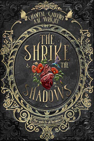 The Shrike & the Shadows, Embroidery, Flowers, Hummingbird, leaves, Fantasy, Horror, New Adult, Romance, Banner, Chantal Gadoury, A.M. Wright