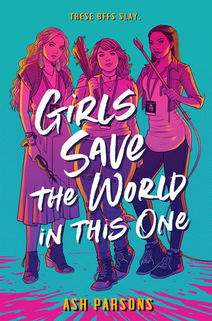 Girls Save the World in This One, Jen Bartel, Zombies, Ash Parsons, Green, Pink, Weapons, Conventions, Horror, Young Adult, Friendship