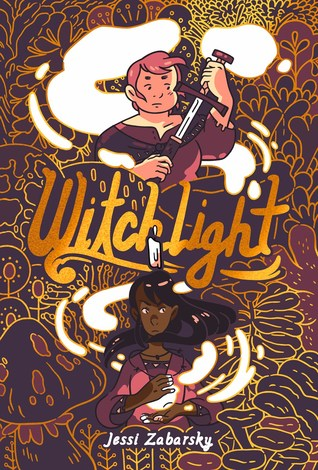 Witchlight, Graphic Novel, Comics, Adventure, LGBT, Fantasy, Witches, Soul, Magical, Magical Abilities, Adventure, Jessi Zabarsky, Brown, Patterns, Girls, Sword