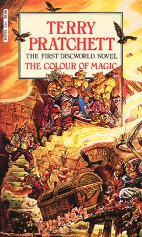 Colour of Magic, Terry Pratchett, Humour, Fantasy, Discworld, Treasure, Luggage, Trolls, Stairs