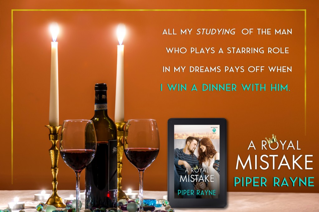 A Royal's Mistake, Piper Rayne, Man, Woman, Cute, Romance, Prince, Royalty, Orange, Candles, Wine, Wineglasses, Teaser