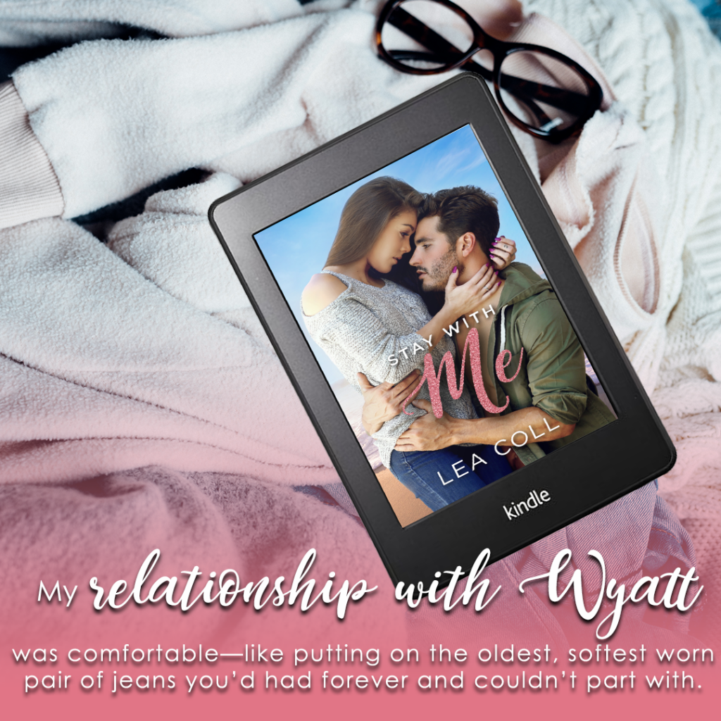 Stay With Me, Lea Coll, Pink, Book Teaser, Blanket, Kindle, Glasses, Romance, Man, Woman, Hugging