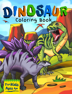 Dinosaur coloring Book, Dinosaurs, colouring, Facts, Children's Books, THe Northern Star Printing Co.