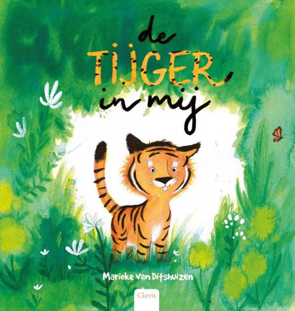 De Tijger in mij, August the Tiger, Marieke van Ditshuizen, Grass, Green, Tiger, Cute, Cover Love, Children's Books, Picture Books, Magic, Fantasy, Fun, Tiger