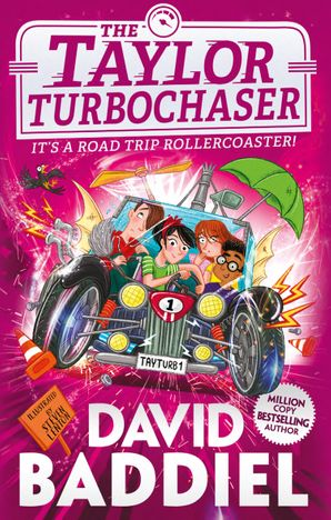 The Taylor Turbochaser, David Baddiel, Steven Lenton, Pink, Red, Purple, Children, Girls, Boys, Car, Magic, Racing, Wheelchair, Children's Books, Humour, Funny, Family, Divorce, Inventions, Friendship, Illustrations