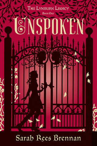 Unspoken, Sarah Rees Brennan, Lynburn Legacy, Magic, Fantasy, Mystery, Paranormal, Young Adult, Gat, Fence, Red, Silhouette, Romance, Imaginary Friends