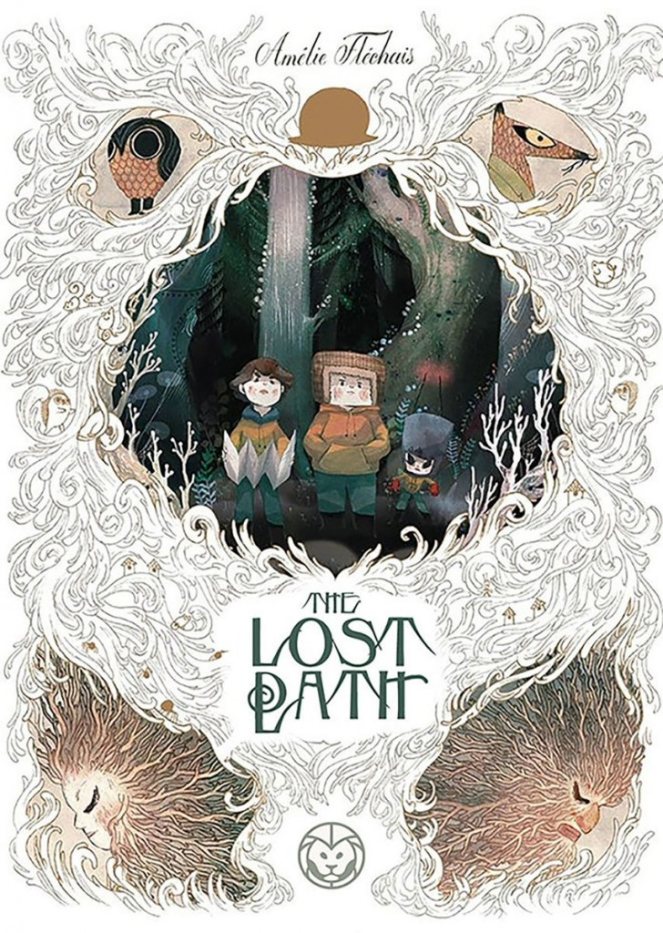 The Lost Path, Amélie Fléchais, Jonathan Garnier, Graphic Novel, Children's Books, Fantasy, Mystery, Lost, Spirits, White, Children, Owl, Animals, Forest
