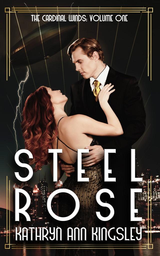 Steel Rose, Black Background, War, Secrets, Villain, Romance, HEA, Man, Woman, Kathryn Ann Kingsley,