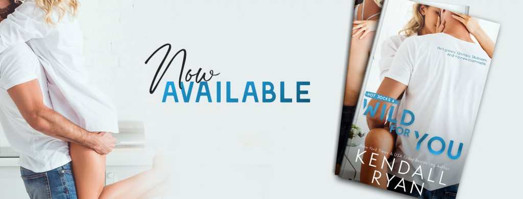 Hug, Woman, Man, Romance, Roommates, Hockey, Sports, Wild For You, Hot Jocks, Kendall Ryan, Release Banner, White