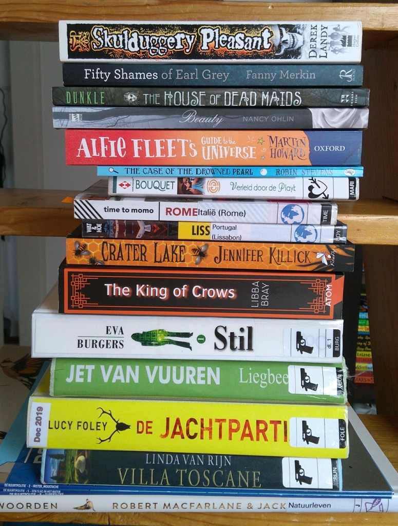 TBR, Stack of Books, Reading, Thrillers, Children's Books, Re-reads