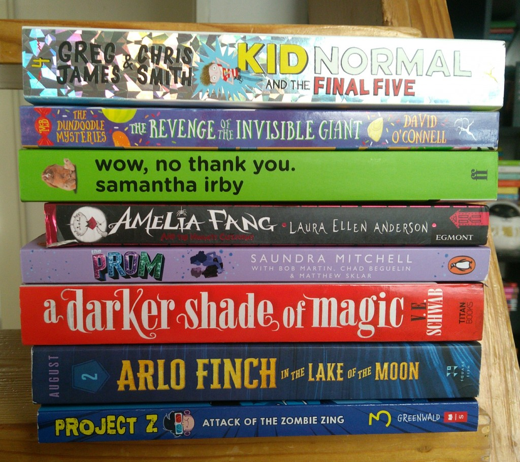 New Books, Reading, Kid Normal, Darker Shade of Magic, Arlo Finch, Amelia Fang, Samantha Irby, Prom, Books, Reading, Stack