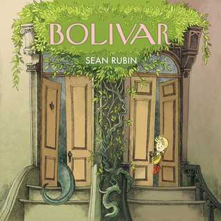 Sean Rubin, Bolivar, Humour, Dinosaurs, Obliviousness, Neighbours, Dual POV, Children's Book, Graphic Novel, New York City, New York, Houses, Door, Tail, Head, Girl, Plants, Stairs, Building, Fantasy,