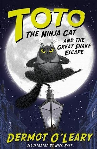 Toto the Ninja Cat and the Great Snake Escape, Toto the Ninja Cat, Cat, Lantern, Moon, Cats, Adventure, Ninjas, Brother, Sister, London, Dermot O'Leary, Nick East, Night, Stars, Zoo, Mystery, Children's Books, Illustrations
