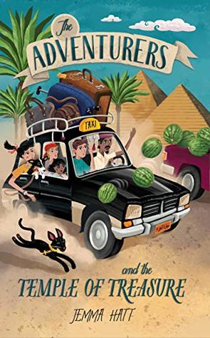 The Adventurers and the Temple of Treasure, Jemma Hatt, Car, Cat, Pyramids, Baggage, Boy, Girl, Taxi, Adventure, Children's Book, Family, Friendship, Egypt, Treasure