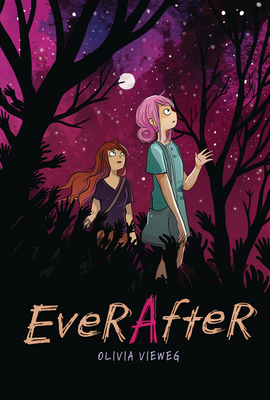 Ever After, Night, Stars, Forest, Plants, Moon, Olivia Vieweg, Graphic Novel, Zombies, Post-Apocalypse, Travelling, Mental Health, Sister, Family, Weird, Confusing, Rushed, Girls, Pink Hair, Horror, Germany