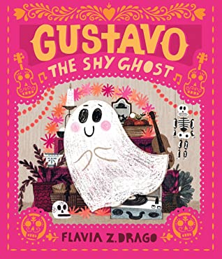 Gustavo the Shy Ghost, Flavia Z. Dragó, Ghosts, Cute, Cover Love, Pink, Candles, Picture Book, Children's Book, Orange Letters, Halloween, Holiday