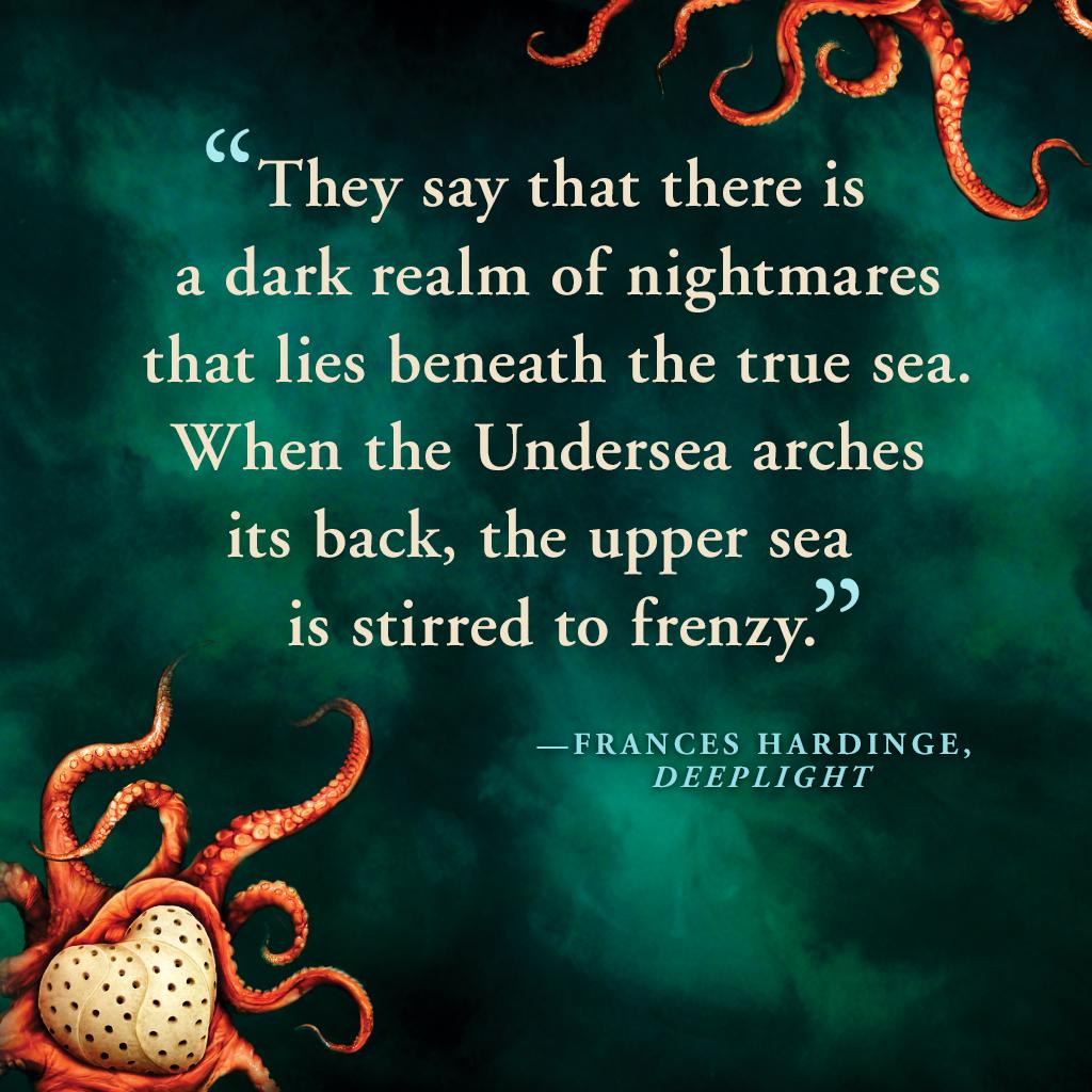 Cult, Deeplight, Frances Hardinge, Octopus, Young Adult, Fantasy, Twenty Thousand Leagues Under The Sea, Frankenstein, Heart, Quote, Teaser