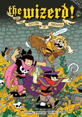 The Wizerd Vol. 1: And the Potion of Dreams!, The Wizerd, Archer, Warrior, Potion, Jail, Prison, Money, Loot, Michael Sweater, Rachel Dukes, Graphic Novel, Fantasy, Battles, Wizards
