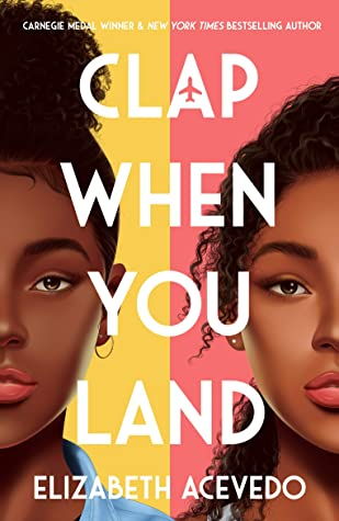 Clap When You Land, Pink, Yellow, Airplane, Two Girls, Plane Crash, Faces, Contemporary, Young Adult, Poetry, Elizabeth Acevedo, Sister, Family, Dual POV