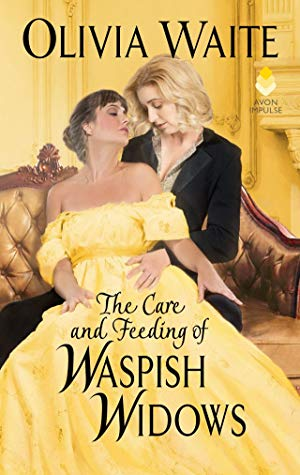The Care and Feeding of Waspish Widows, Feminine Pursuits, Olivia Waite, Yellow, Gold, Women, Holding, Dress, Suit, Historical Fiction, Romance, Bees,