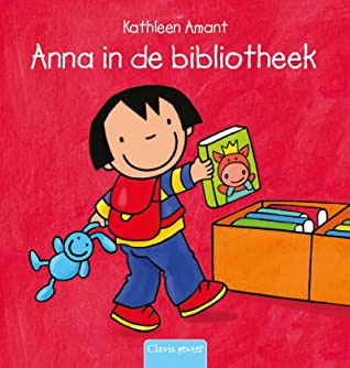 Anna in de bibliotheek, Kathleen Amant, Picture Book, Children's Book, Girl, Books, Bunny, Library, Father