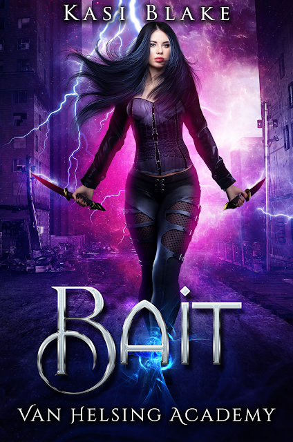 Bait, Kasi Blake, Paranormal, Romance, Reaper, Van Helsing, Fantasy, Girl, Daggers, Lightning, Purple, Long Hair, Street, Van Helsing Academy