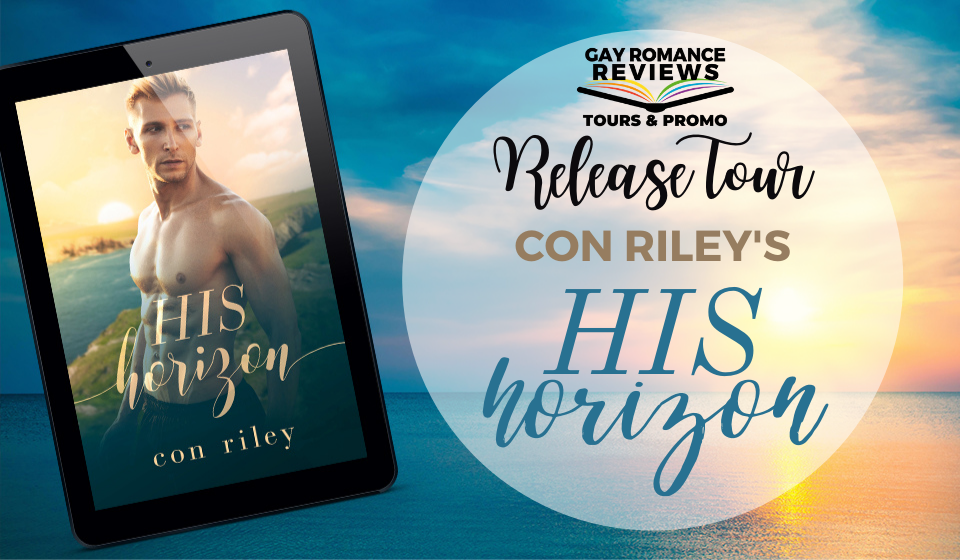 His Horizon, Con Riley, LGBT, Sunset, Water, Banner, Cooks, Competition, Romance, LGBT, Half-naked guy