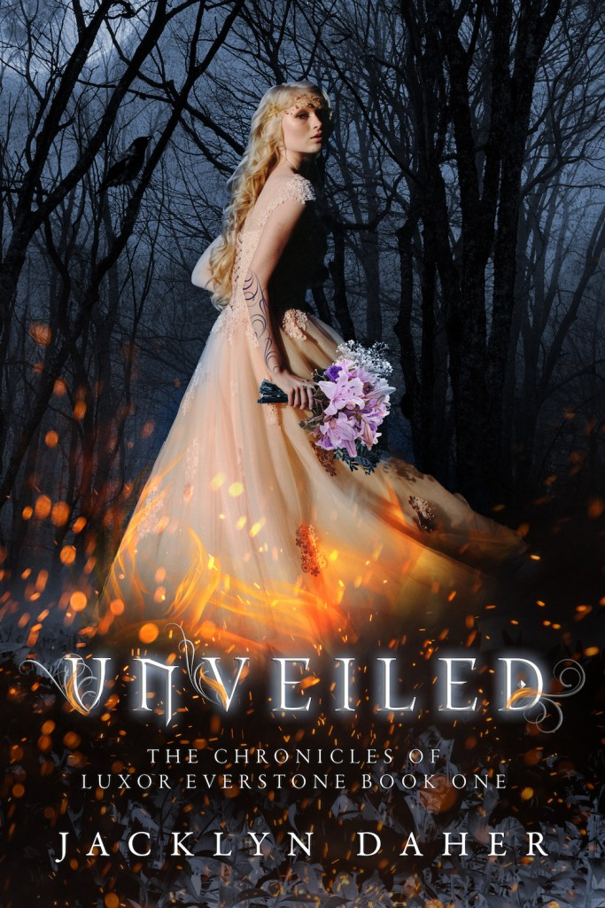 Girl, Dress, Fire, Running, Unveiled, Jacklyn Daher, The Chronicles of Luxor Everstone, Young Adult, Mystery, Paranormal, Romance, Coma, Secrets, Truth,