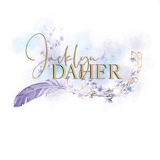 Jacklyn Daher, Logo, Pretty, Feather, Glitter, Colourful