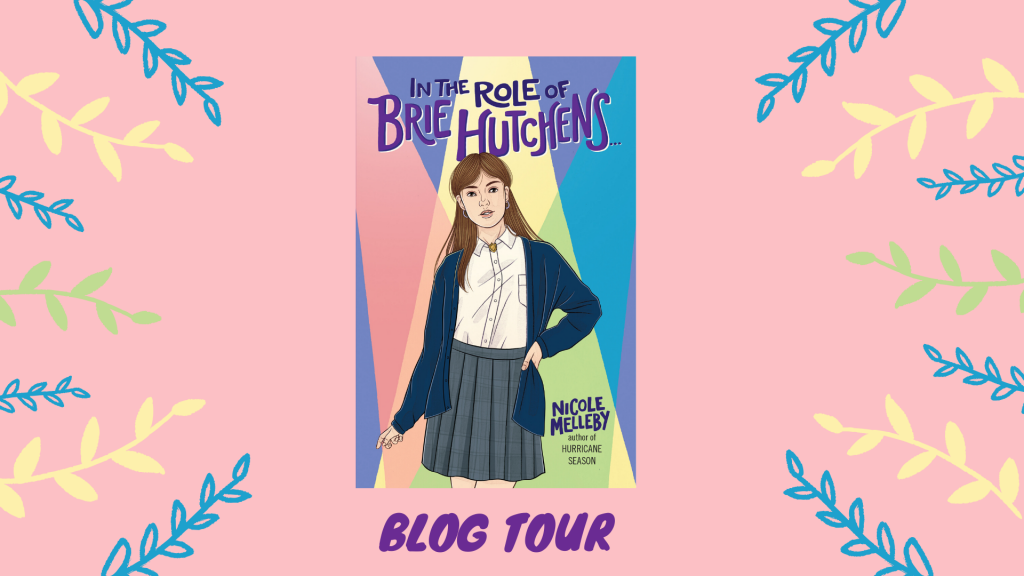 In the Role of Brie Hutchens…, LGBT, Romance, Children's Book, Catholic School, Mom, Realistic Fiction, Pink, Banner, Girl, Spotlights,Nicole Melleby