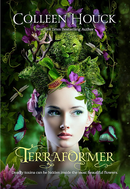 Secrets, Cover Love, Young Adult, Sci-fi, Terraforming, Planet, Terraformer, Colleen Houck, Plants, Flowers, Girl,