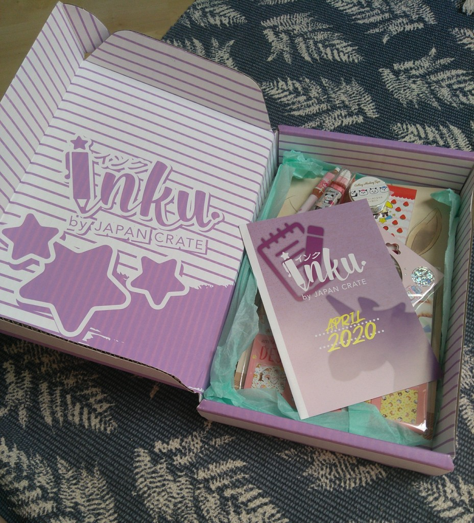 Inku Crate, April 2020, Stationery, Box, Crate, Purple, Japan Crate