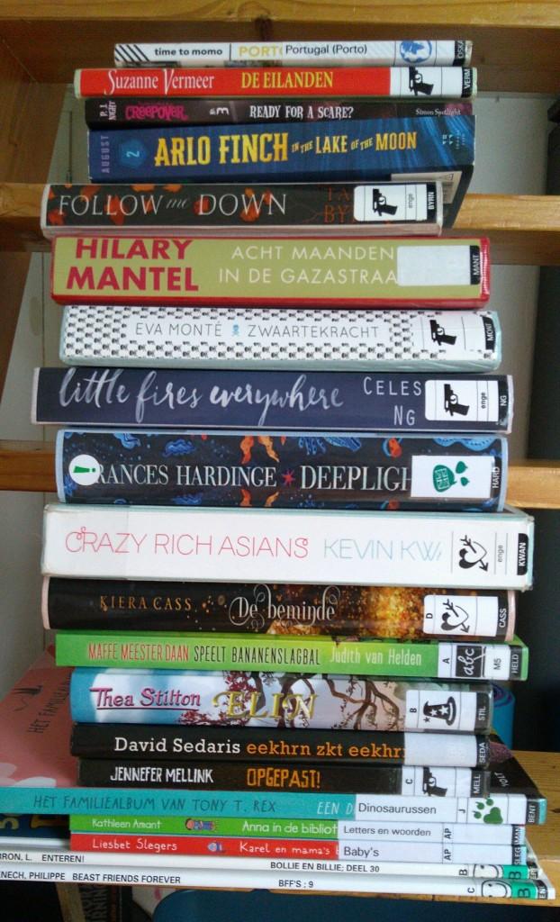 TBR, Sunday, Books, Reading, Stack, Children's Books, Comics, Travelling, Thriller, Dutch, English