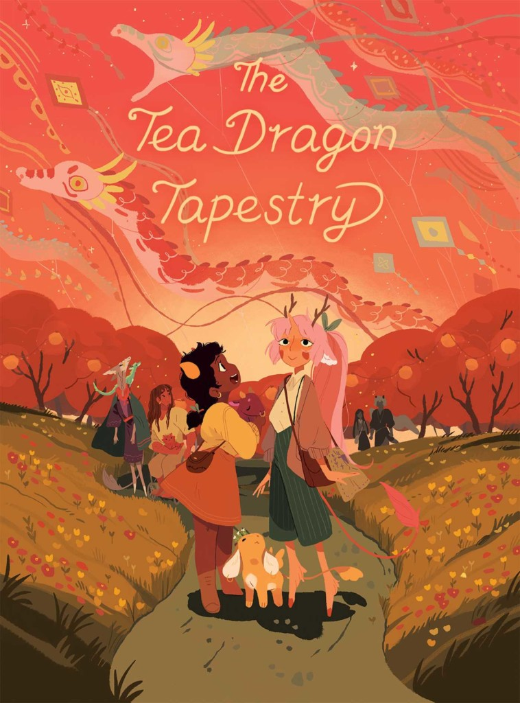 The Tea Dragon Tapestry, Tea Dragon Society, Dragons, Blacksmith, Test, Children's Books, LGBT, Romance, Fantasy, Magic, Multiple POV, Dragons, Red, Kites, Forest, Path, Girls, Gorgeous, Katie O'Neill