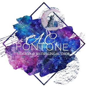 Angela Camilla Pontone, Logo, Purple, Blue, Author