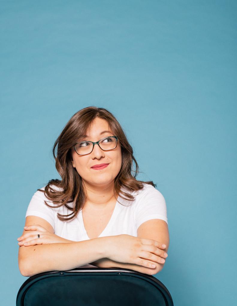 Kelsey Navarro, Blue Background, Narrator, Photograph