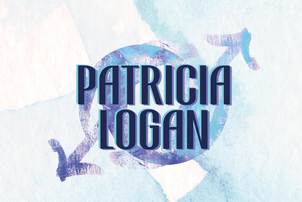 Patricia Logan, Logo, Author, Blue, Arrows
