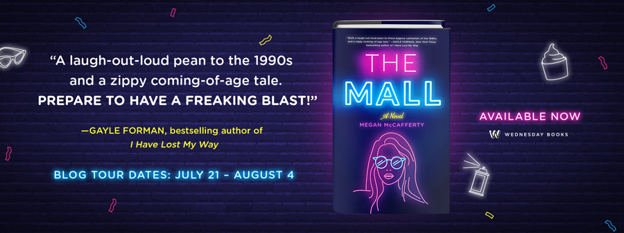 The Mall, Megan McCafferty, Young Adult, Pink, Blue, 1991, Summer, Romance, Friendship, Blue, Pink, Purple